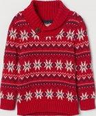 Джемпер H&M 0638887 98-104 см Червоний (2000001753323) - зображення 1