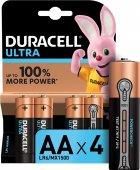 Лужні батарейки Duracell Ultra Power AA 1.5В LR6 4 шт (5000394062573) - зображення 1