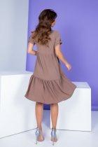 Женское платье Khan свободного кроя кофе с молоком 50 XL - изображение 3