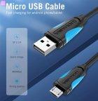Кабель Vention USB-A 2.0 - microUSB B, 1 м Black (VAS-A04-B100-N) (59625022) - изображение 5