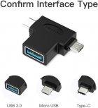Перехідник Vention USB 3.0 Type-C / USB 3.0 OTG AF / microUSB BM (CDIB0) (64619982) - зображення 10