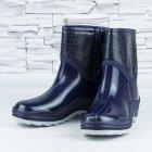 Полусапожки ботинки резиновые W-shoes 111-b утепленные непромокаемые синие 40р (25,5 см) b-608 - изображение 1