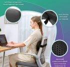 Массажная роликовая подушка инфракрасный массажер для спины и шеи Zabobon (Premium) - изображение 3