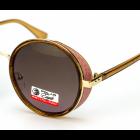 """Солнцезащитные Поляризационные очки Polar Eagle К2 с Чехлом серии """"You're beautiful"""" Тишейды Светло-коричневая линза форма оправы Круглая - изображение 3"""