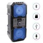 """Портативная беспроводная колонка аккумуляторная Bluetooth акустическая система 2х4"""" с пультом USB FM 2х5 Вт KTS 1048 Синяя - изображение 1"""