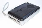 Аккумуляторный портативный радиоприемник Golon RX-2277 FM AM радио колонка с фонариком и USB выходом Черно-серебристый + Электронные часы с будильником и секундомером - зображення 2
