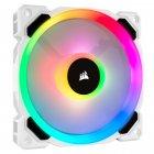 Вентилятор Corsair LL120 RGB (CO-9050091-WW), 120x120x25мм, 4-pin, белый - зображення 2