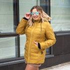 Женская весенняя куртка большого размера UF-fashion Натали-UF 50 горчичный - изображение 2