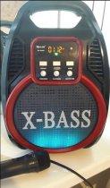 Колонка Golon RX 820 с микрофоном - портативная Bluetooth колонка с радио и светомузыкой - зображення 9