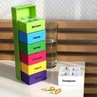 Органайзер для таблеток, витаминов, БАДов на 7 дней, пластиковый зеленый MVM PC-02 GREEN - изображение 9