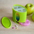 Органайзер для таблеток, витаминов, БАДов на 7 дней, пластиковый зеленый MVM PC-04 GREEN - изображение 5