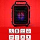Портативная беспроводная Bluetooth акустическая система REMAX Song K Outdoor Portablae RB-X3 колонка чемодан караоке с микрофоном Black (RB-X5) - зображення 2