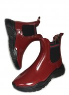 Женские резиновые ботинки РЕАЛПАКС F-200 38 25 см Бордовый с черным - изображение 3