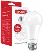 Лампа светодиодная MAXUS A60 12 Вт 4100 K 220 В E27 (1-LED-778) - изображение 1