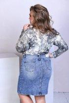 Спідниця джинсова з кишенями на гудзиках Miss Podium Блакитний 56 - зображення 2