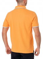 Мужское поло Pierre Cardin Однотонное XXL Оранжевая (А:52414/4813 М:81255) - изображение 2