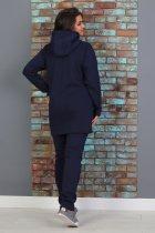 Утепленный трикотажный костюм Slazer с удлиненной курткой 48 Темно-синий (308/1) - изображение 4