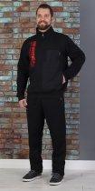 Спортивный костюм теплый батник со стойкой 50 Черный (507) - изображение 2