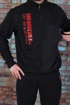 Спортивный костюм теплый батник со стойкой 50 Черный (507) - изображение 4