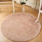 Килим круглий в спальню, вітальню Ø 100 см середній ворс, бежевий L0191.5 - зображення 1