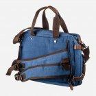 Мужская сумка Vintage leather-20147 Синяя - изображение 2