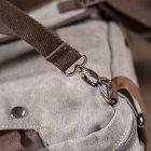 Мужская сумка Vintage leather-20151 Серая - изображение 10