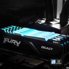 Оперативная память Kingston Fury DDR4-2666 131072MB PC4-21300 (Kit of 4x32768) Beast RGB Black (KF426C16BBAK4/128) - изображение 7