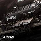 Оперативна пам'ять Kingston Fury DDR4-3733 32768 MB PC4-29864 (Kit of 2x16384) Beast Black (KF437C19BB1K2/32) - зображення 8