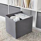 Коробка для хранения IKEA DRÖNA 33x38x33 см Темно-серая (104.439.74) - изображение 2