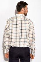 Рубашка в клетку Time of Style 511F047 S Серо-бежевый - изображение 4
