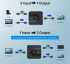 Двунаправленный переключатель HDMI 2.0 Ugreen CM217 (HDMI кабель 0.5 метра в комплекте) - изображение 5
