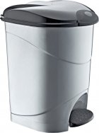 Відро для сміття Irak Plastik Bella №3 з педаллю 30 л Сіре (4567kmd) - зображення 1
