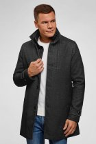 Чоловіче темно-сіре пальто Oodji 46-182 1L312002M/48524N/2300N - зображення 1
