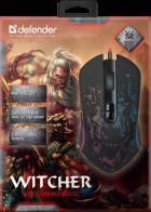 Миша Defender Witcher GM-990 RGB USB Black (52990) - зображення 4