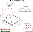 Вытяжка Perfelli K 6122 BL Wood LED - изображение 15