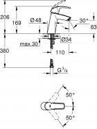 Набор смесителей GROHE Eurosmart 123246R - изображение 3