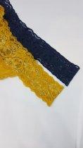 Набор женского нижнего белья трусики стринги Oxa кружевные хлопковые разноцветные 10 штук (M-L) - изображение 5