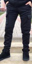 Штани спортивні чоловічі BERSENSE W-720 трикотажні зимові манжет темно-сірий, XXL - изображение 1