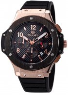 Мужские часы Megir Gold Black MG3002G (MN3002GREBK-1N0) - изображение 1