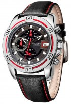 Мужские часы Megir Silver Black MG2023 (ML2023GBK-1) - изображение 2