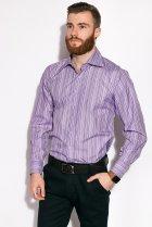 Рубашка классическая Time of Style 11P1250 41-42 Светло-сиреневый - изображение 4