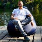 Крісло Мішок Груша Оксфорд 300 150х100 Студія Комфорту розмір Великий синій - зображення 3