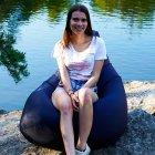 Крісло Мішок Груша Оксфорд 300 120х85 Студія Комфорту розмір Стандарт синій - зображення 5