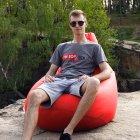 Крісло Мішок Груша Оксфорд 120х85 Студія Комфорту розмір Стандарт червоний - зображення 3