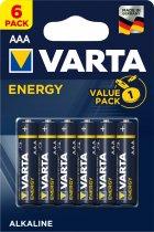 Батарейки Varta Energy AAA BLI 6 (4103229416) - изображение 1