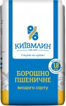 Упаковка борошна пшеничного Київмлин вищого сорту 1.8 кг х 6 шт. (4820203240081) - зображення 2