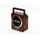 Акумуляторний радіоприймач колонка з USB SD ліхтариком, цифровим FM тюнером Коричневий NNS (NS-904U) - зображення 1