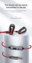 Проводные вакуумные стерео наушники с влагозащитой IPx5 гарнитурой с микрофоном KUULAA M17 Earbuds Deep Bass (KL-DR06YX-01) Red - изображение 6