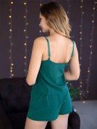 Пижама женская с шортами (майка + шорты) Mito Soft-Touch 50 (XL) Зеленая - изображение 4