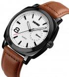 Мужские часы Skmei 1466BOXLBKBN Black/Brown Leather Belt BOX - изображение 2